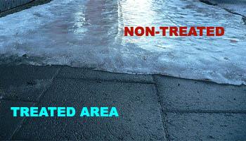 How to melt ice on sidewalk